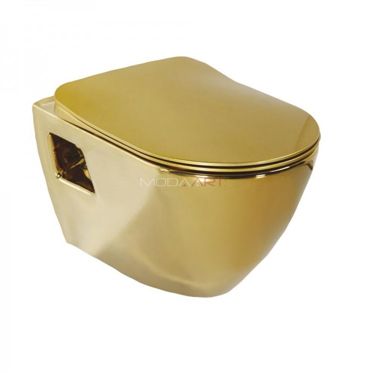 Creavit Terra TR325.00010 Altın Kaplama Asma Klozet