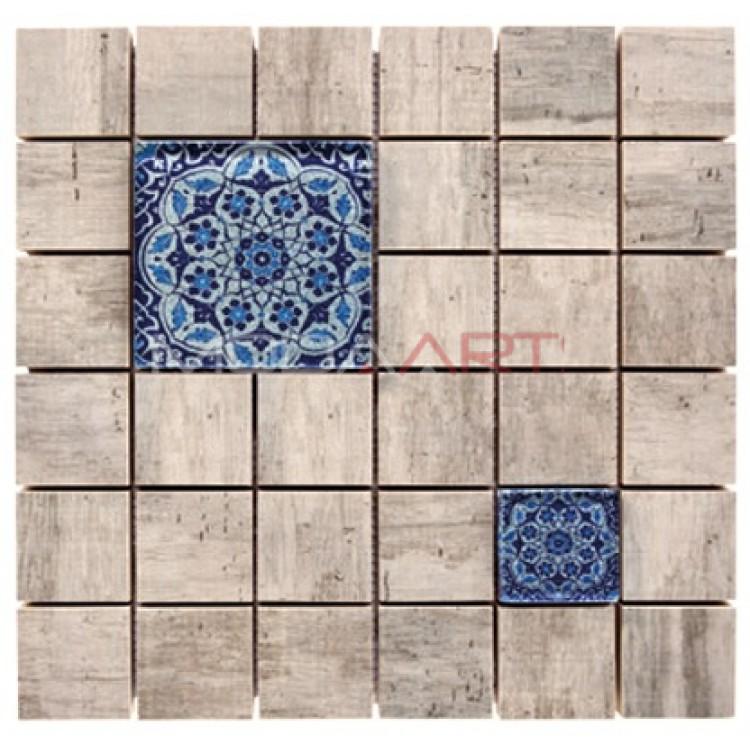 Seramik Mozaik Wooden Faince ES-WF-102