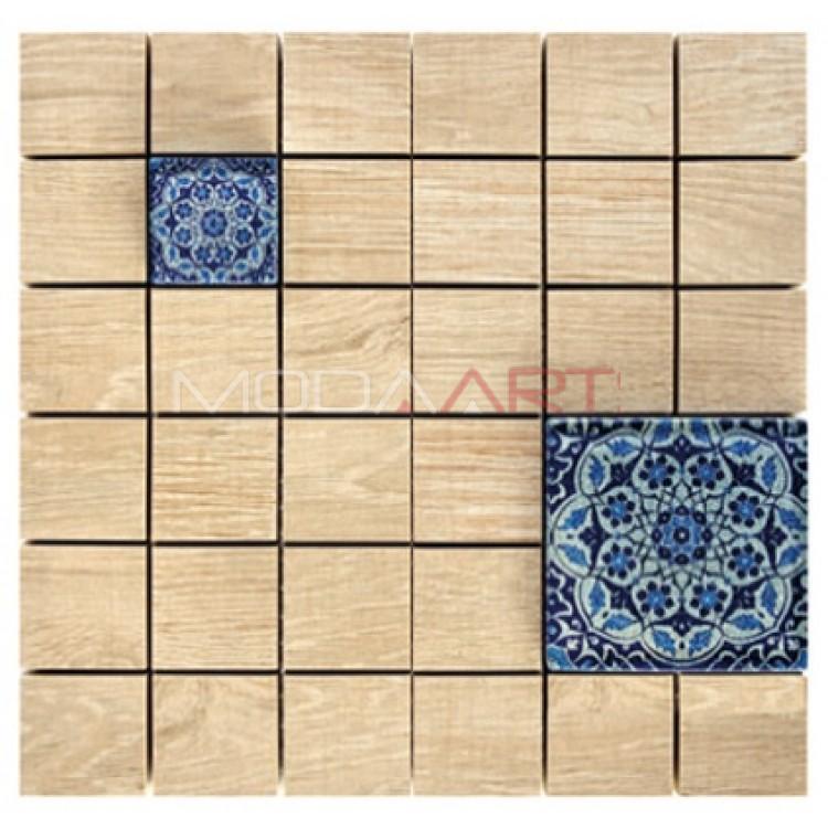 Seramik Mozaik Wooden Faince ES-WF-103
