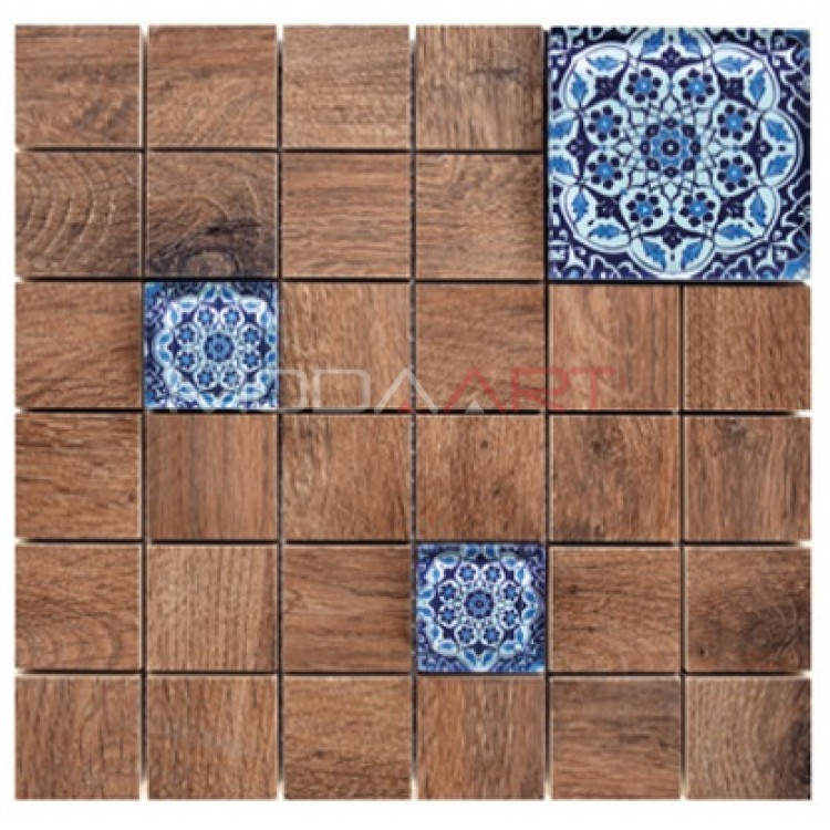 Seramik Mozaik Wooden Faince ES-WF-104