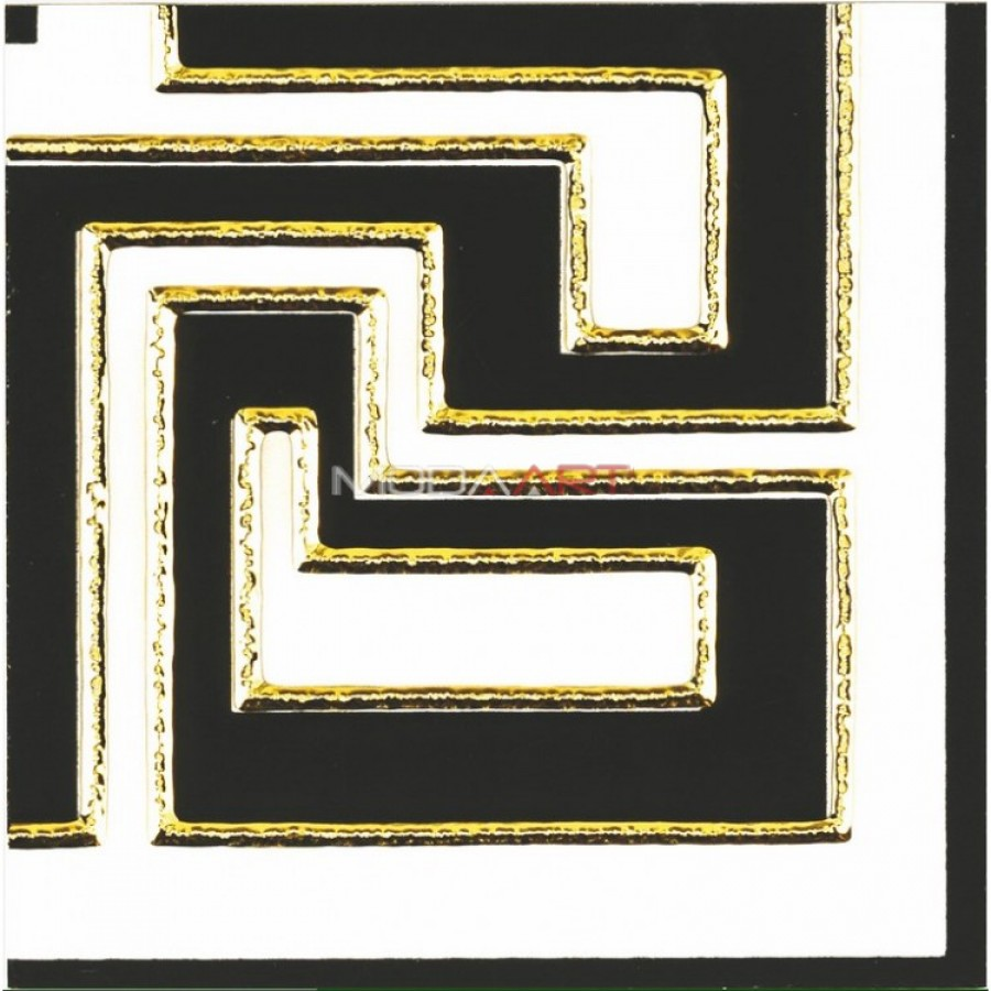15x15cm Coner Border Macro Altın